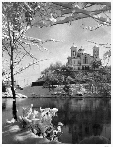 Ο χιονισμένος Aγ. Αχίλλειος 1938