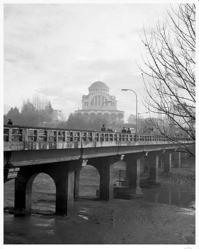 Η γέφυρα με τον Αγ. Αχίλλειο 1970