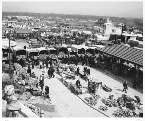 Παζάρι στη Λάρισα 1958