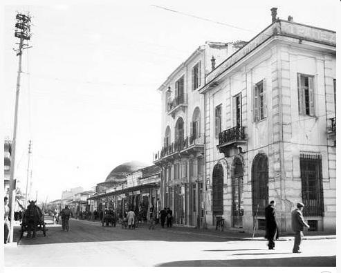 Οδός Βενιζέλου στο ύψος του αρχαίο θεάτρου 1950