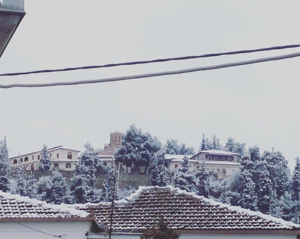"larisaxioni 1024x817 - Στα λευκά ""ντύθηκαν"" τα ορεινά του νομού Λάρισας"