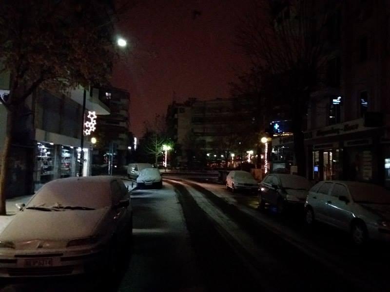 15970558 10210066091263134 693938490 n - ΕΚΤΑΚΤΗ ΕΠΙΚΑΙΡΟΤΗΤΑ- Tο έστρωσε ξανά στη  Λάρισα – Η χιονόπτωση συνεχίζεται