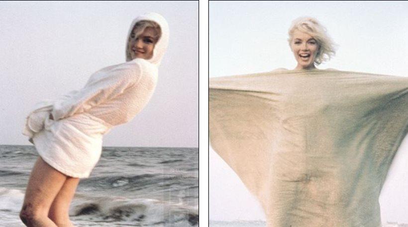 Merylin - Χαμογελαστή στην παραλία η Μέριλιν Μονρόε στην τελευταία φωτογράφιση πριν το θάνατό της