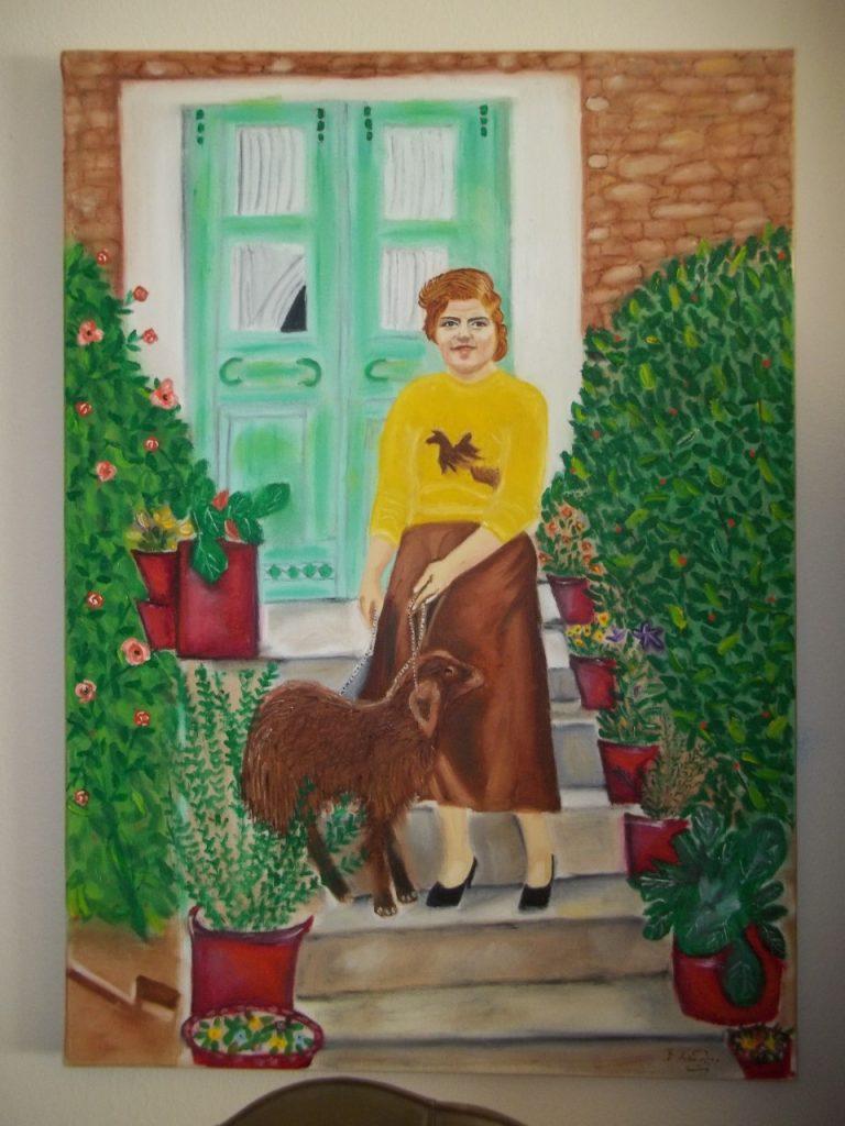 thumbnail 100 1289 768x1024 - Έκθεση ζωγραφικής της Βασιλικής Μάγγα-Χαδουλού στο Μύλο του Παππά