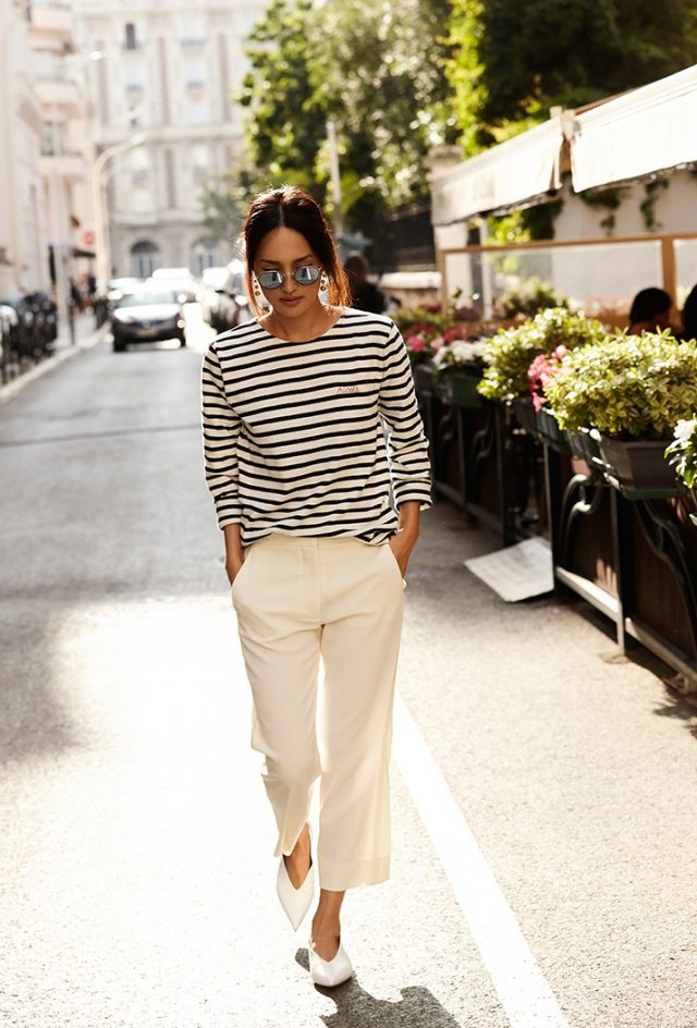 Striped Top and White Pants - Πρωτομαγιά : Τι να φορέσω;