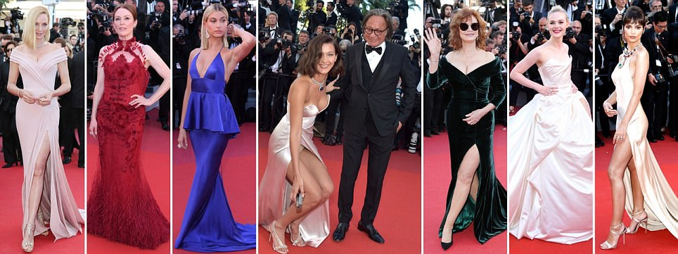 2017 05 18 article 4515714 40759d6d00000578 217 964x3614 - Cannes 2017: Δες τι φόρεσαν οι celebrities