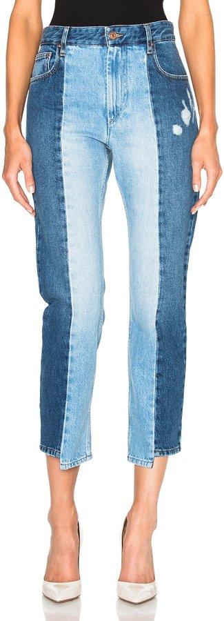 Isabel Marant takes patchwork next level its two toned - Οι 4 πιο must επιλογές σε jeans,που θα λατρέψεις αυτή τη σεζόν