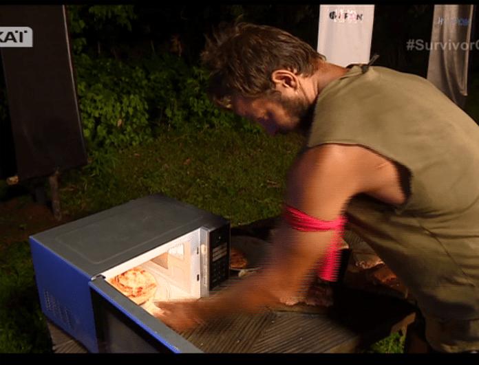 Untitled 374 - Survivor: Ο Αγγελόπουλος πήγε να βάλει φωτιά στο έπαθλο! Έβαλε καταλάθος στον φούρνο το….