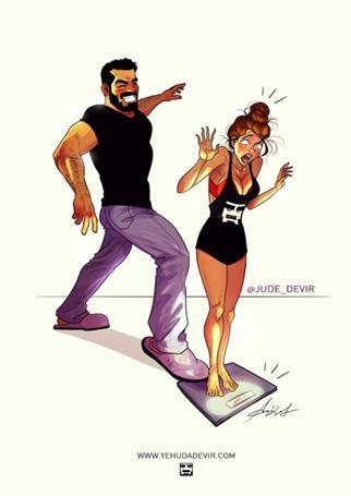 comic10 Copy - Τα υπέροχα σκίτσα ενός κομίστα που περιγράφουν τη ζωή με τη γυναίκα του