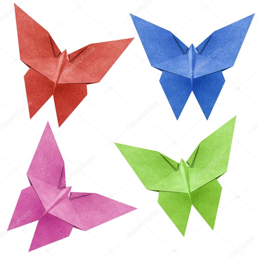 depositphotos 10495010 stock photo origami butterfly recycle papercraft - «Εγκατάσταση με πεταλούδες» στο ποτάμι