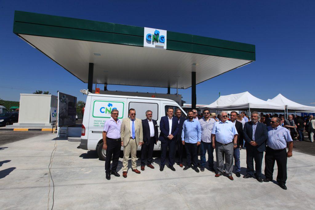 foto cng 3 1024x683 - Σταθμό συμπιεσμένου φυσικού αερίου εγκαινίασε ο υπουργός Περιβάλλοντος στη Λάρισα