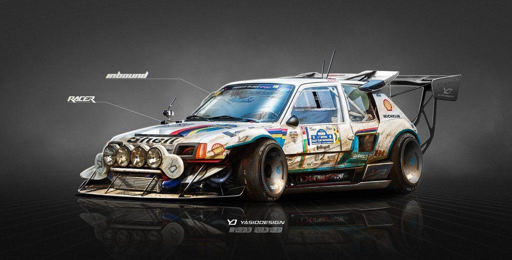 peugeot 205 t16 on steroids inbound racer by yasiddesign d968jy4 1024x520 - Αυτό το Nissan θα το οδηγούσε ο Mad Max μετά χαράς