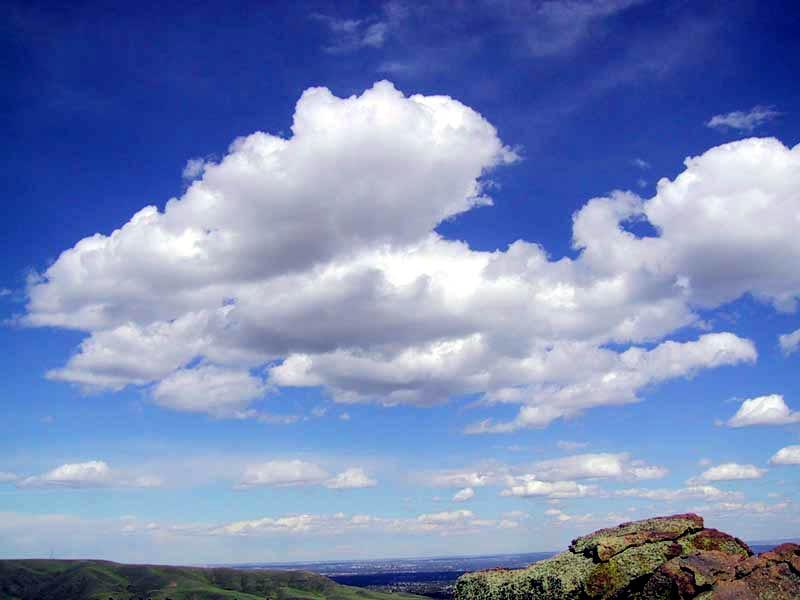 Cumulus clouds in fair weather - Ο καιρός σήμερα στην Λάρισα