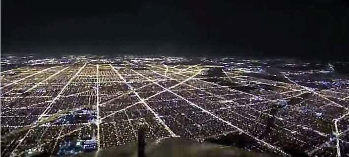 fos 708 - Το φαντασμαγορικό Σικάγο όπως φαίνεται από το πιλοτήριο κατά την προσγείωση [βίντεο]