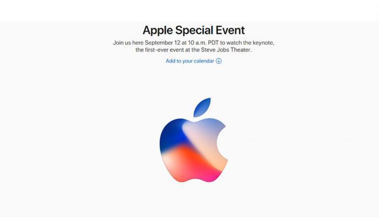 apple invite 1 768x441 - Σήμερα παρουσιάζεται το νέο iPhone 8!
