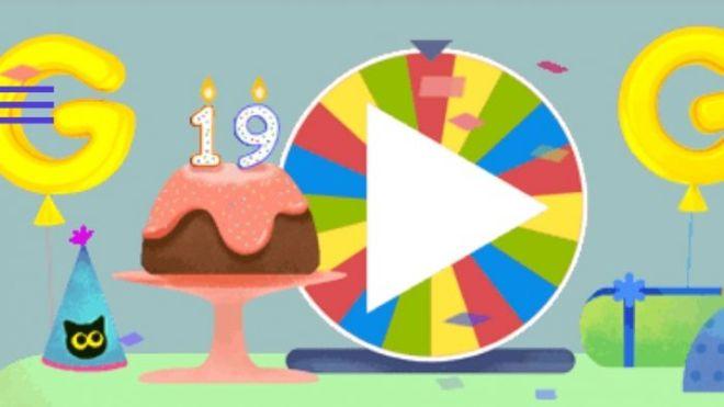 google doodle - Google doodle με τροχό έκπληξη για τα (ανύπαρκτα) γενέθλια της Google