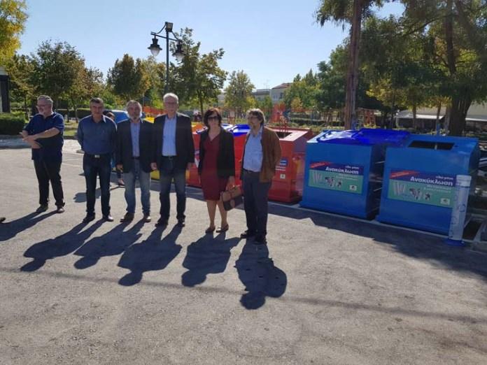 prasino simeio 6 - Εγκαινίασε την Γωνιά Ανακύκλωσης στη Νεάπολη ο Απόστολος Καλογιάννης