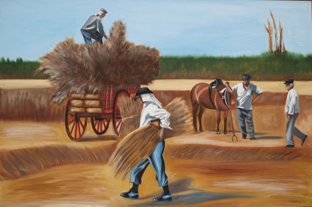 P7231243 1024x681 - Έκθεση ζωγραφικής «Τέχνης Υφάνσεις» στο Μύλο του Παππά