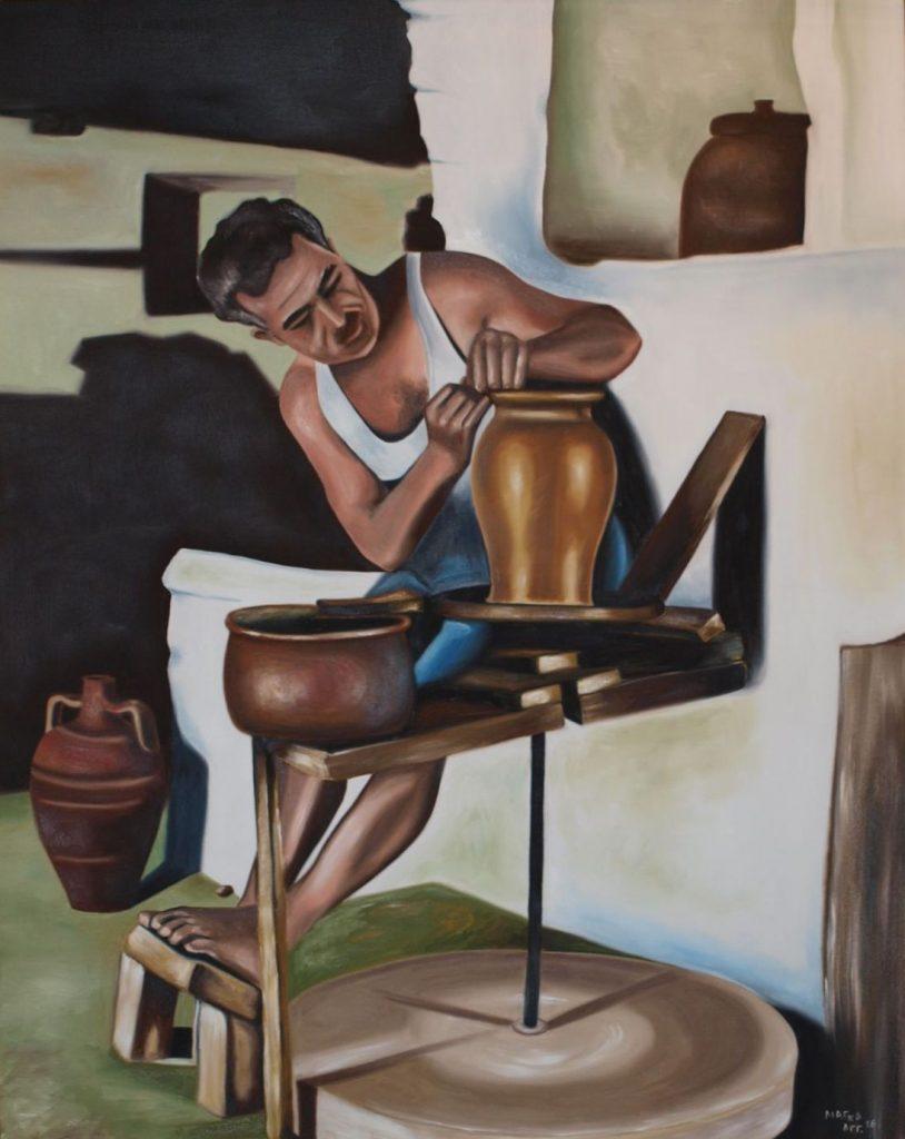 P7231247 814x1024 - Έκθεση ζωγραφικής «Τέχνης Υφάνσεις» στο Μύλο του Παππά