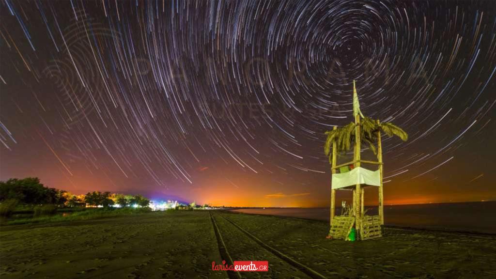Στόμιο Λάρισας βροχή αστεριών